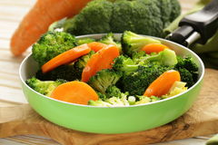 Mixed vegetables with carrots and broccoli Stock Image