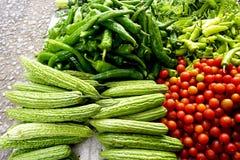Mixed vegetables in Farmer market Royalty Free Stock Photos