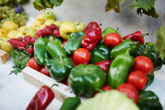 Mixed vegetables and fruits pepper Royalty Free Stock Image