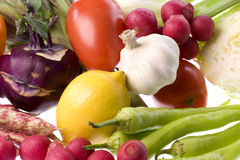 Mixed Vegetables Isolated Royalty Free Stock Photo