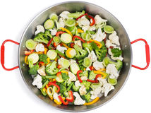 Mixed vegetables in a pan Stock Images