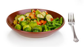 Mixed vegetables on plate Royalty Free Stock Photos