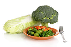 Mixed vegetables on plate Stock Image