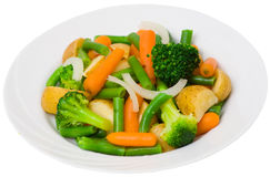 Mixed vegetables on a plate Stock Photos
