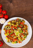 Mixed vegetables with rice Stock Photos