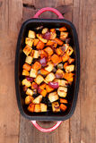 Mixed vegetables roasted in a pan Stock Photography