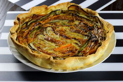 Mixed vegetables savory pie Royalty Free Stock Photo