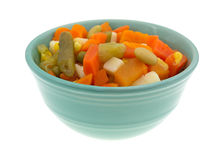 Mixed vegetables in a small bowl Stock Image