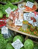 Mixed vegetables and spices nicely presented royalty free stock photo