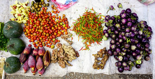 Mixed vegetables top view Stock Images