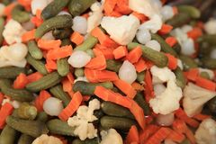 Mixed Vegetables in Vinegar on Farmers Market stock photos