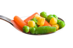 Mixed vegetables on white background Stock Image