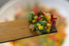 Mixed vegetables in the wok Royalty Free Stock Images
