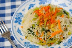 Mixed Vegetarian Vermicelli Stock Image