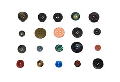Mixed vintage Sewing Buttons with a Clipping Path. Stock Photography