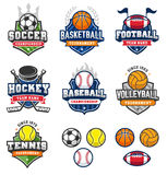 Mixed Vintage Vector Sport logos Stock Photos