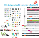 Mixed web graphics. Large collection of  web graphics Royalty Free Stock Image