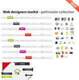 Mixed web graphics. Large collection of  web graphics Stock Images