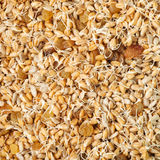 Mixed wheat sprouts, raisins and sunflower seeds Stock Photo