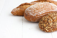 Mixed whole grain health breads Stock Images