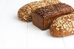 Mixed whole grain health breads Royalty Free Stock Image