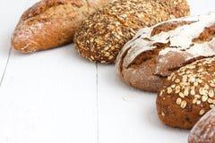 Mixed whole grain health breads. Stock Photos