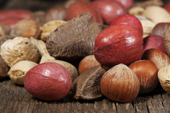 Mixed Whole Nuts Stock Photography
