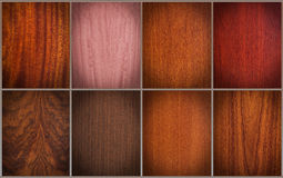 Mixed wood textures Stock Images
