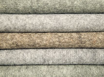Mixed wool materials for sewing Royalty Free Stock Photography