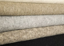 Mixed wool materials for sewing Royalty Free Stock Images