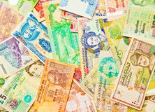 Mixed World Currency. A collage of mixed world currencies and banknotes Royalty Free Stock Photography