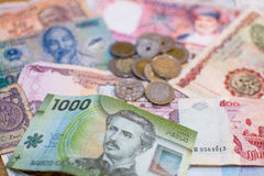 Mixed world currency Royalty Free Stock Photography