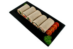 Mixed Wrap Platter 1 Stock Image