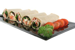 Mixed Wrap Platter 7 Stock Photo