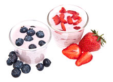 Mixed Yoghurts Stock Image