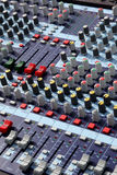 Mixer in audio recording studio Stock Photography