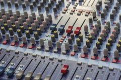 Mixer audioknopen Royalty-vrije Stock Fotografie