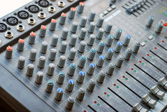 Mixer board Stock Image