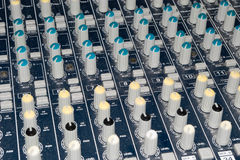 Mixer buttons detail Royalty Free Stock Image