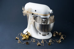 Mixer with Christmas Decoration Royalty Free Stock Photos