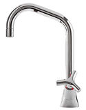 Mixer cold hot water. Modern faucet  bathroom.  Kitchen tap  . I Royalty Free Stock Photography