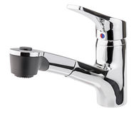 Mixer cold hot water. Modern faucet  bathroom.  Kitchen tap  . I Royalty Free Stock Photos