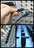 Mixer collage. A collage with 3 images of different parts and functions of a mixer Royalty Free Stock Image