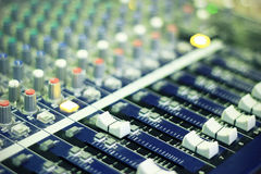 Mixer console Royalty Free Stock Image