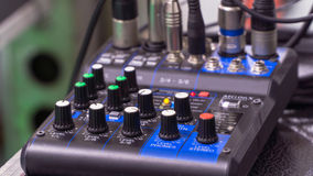 Mixer console Royalty Free Stock Photo