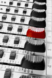Mixer control. Sound mixer panel and fader Stock Photo