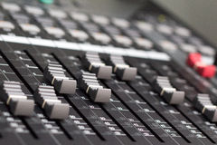 Mixer. Control volume pad of mixer Royalty Free Stock Image