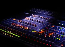 Mixer in the dark Royalty Free Stock Photos