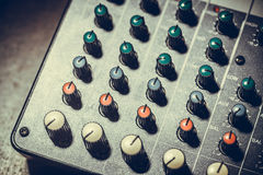 Mixer desk detail Royalty Free Stock Image