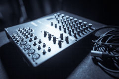 Mixer desk detail Royalty Free Stock Photos